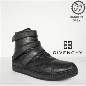 Givenchy | High Top Black Leather Sneakers | 42